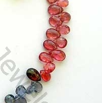 wholesale Multi Spinel  Flat Pear Briolette