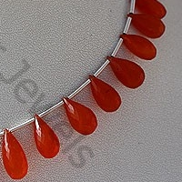 wholesale Carnelian Gemstone Tear Drops Briolette