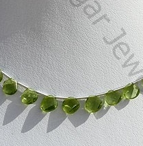 wholesale Peridot Gemstone Twisted heart Briolette.