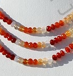 wholesale Mexican Fire Opal  Gemstone  Faceted Rondelle