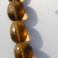 16 inch strand Cognac Quartz  Faceted Nuggets