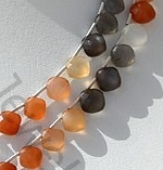 aaa Peach Moon Stone Cushion Shape beads