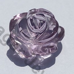 wholesale Pink Amethyst Moon Flower Cut