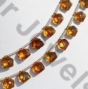 aaa Citrine Gemstone Polygon Diamond Cut