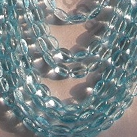 aaa Blue Topaz Gemstone  Oval Faceted