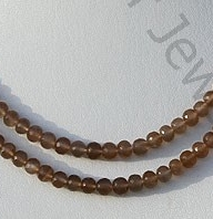 Coffee Moonstone Faceted Rondelles