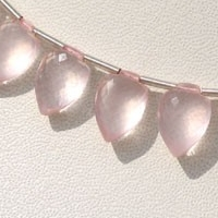 8 inch strand Rose Quartz Gemstone  Conch Briolette