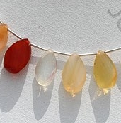 wholesale Mexican Fire Opal  Gemstone  Twisted Flat Pear