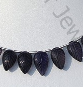 wholesale Iolite Gemstone Beads  Carved Leaf