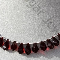 aaa Garnet Gemstone Twisted Tear Drops