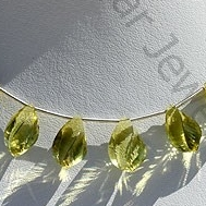wholesale Lemon Quartz Gemstone Twisted Tear Drops