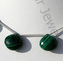 wholesale Malachite Gemstone Heart Briolette