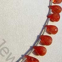 aaa Sunstone Gemstone  Tear Drops Briolette