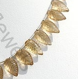 aaa Champagne Citrine Carved Leaf