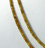 16 inch strand Diamond Gemstone beads Faceted Rondelle