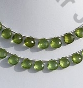 wholesale Peridot Gemstone Beads  Heart Briolette