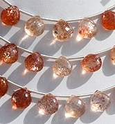 wholesale Sunstone Gemstone  Heart Briolette
