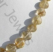 aaa Golden Rutilated Quartz Heart Briolette