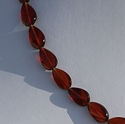 8 inch strand Spessartite Gemstone Twisted Flat Pear