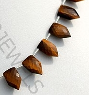 aaa Tiger eye gemstone pentagon shape beads.