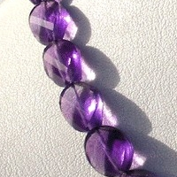 8 inch strand Amethyst Gemstone Twisted Oval