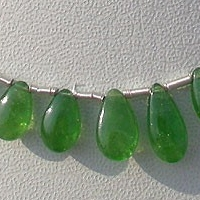 wholesale Tsavorite Gemstone Flat Pear Plain