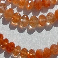 wholesale Sun Stone Oregon  Faceted Rondelles