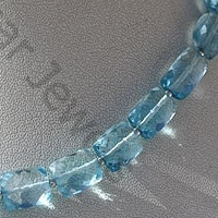 wholesale Blue Topaz Gemstone Faceted Rectangles