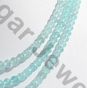 aaa Sea Blue Chalcedony Faceted Rondelle