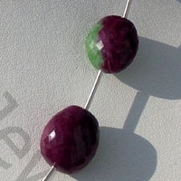 aaa Ruby Zoisite  Faceted Nuggets