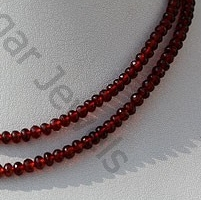 wholesale Garnet Gemstone  Faceted Rondelle