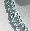 16 inch strand Moss Aquamarine Oval Faceted