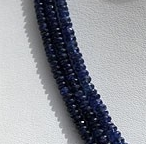 16 inch strand Sapphire Gemstone  Faceted Rondelles