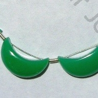 aaa Chrysoprase Gemstone  Moon Shape