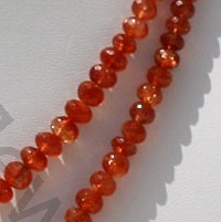 aaa Sunstone Gemstone  Faceted Rondelles