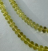 16 inch strand Lemon Quartz  Faceted Rondelles