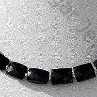 wholesale Black Spinel  Faceted Rectangles