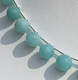 8 inch strand Amazonite Onion Shape Beads