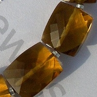 aaa Cognac Quartz  Faceted Rectangles