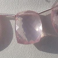 8 inch strand Rose Quartz Gemstone  Rose Cut Slice