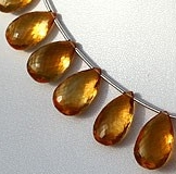 Citrine Flat Pear Briolette