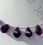 wholesale Amethyst Gemstone Twisted Tear Drops