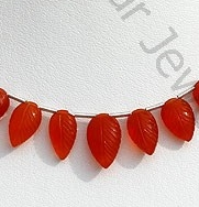 wholesale Carnelian Gemstone  Carved Leaf