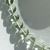 8 inch strand Green Amethyst Gemstone  Coin Beads