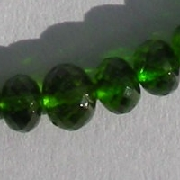 wholesale Chrome Diopside  Faceted Rondelle