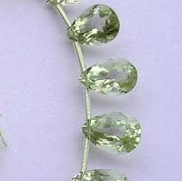 aaa Green Amethyst Gemstone Pan Beads