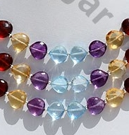 wholesale Semi Precious Gemstone Heart Briolette