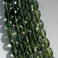 16 inch strand Green Apatite Gemstone Oval Faceted