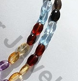 aaa Semi Precious Multi  Oval Faceted