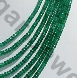 aaa Emerald Gemstone Beads  Faceted Rondelle